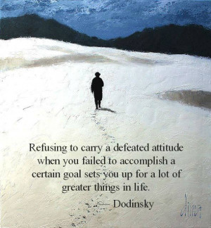 Quote on attitude , goals and life by Dodinsky