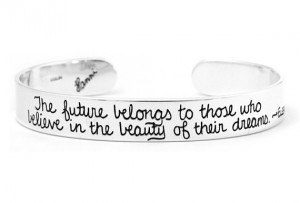 Inspiration Jewelry Eleanor Roosevelt Quote Cuff Bracelet - Graduation ...
