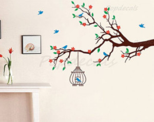 Removable Vinyl Wall Tree Decals Stickers, Stencils Wall Art