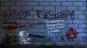 dark horror anarchy graffiti urban art paint text wallpaper background