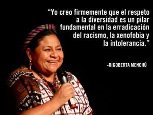 Rigoberta Menchu.