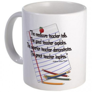 College Gifts > College Coffee Mugs > The mediocre teacher - quote Mug