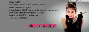 Audrey Hepburn believe in pink cover
