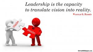 ... Bennis Vision Quotes Images 540x303 Warren G. Bennis Vision