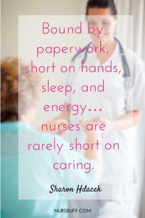 caring nurses quote