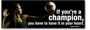 Women's Volleyball Motivational Poster, Laminated, 12″ x 36 ...
