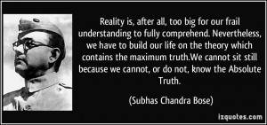 More Subhas Chandra Bose Quotes