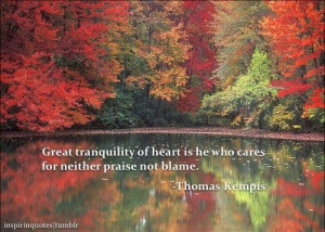 ... http www quotes99 com great tranquility of heart is he who cares img