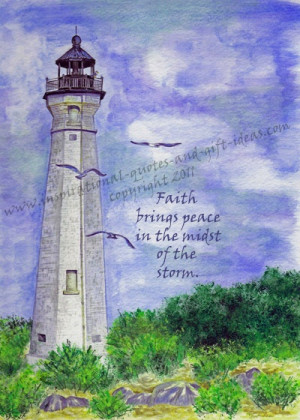 quote with lighthouse