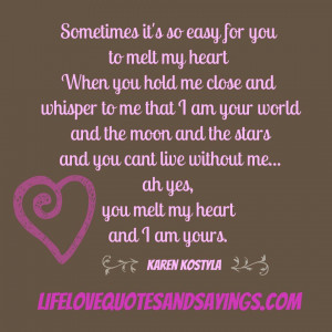My Heart Is Yours Quotes My heart and i am yours