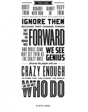 The Crazy Ones Steve Jobs Quote