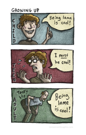 """16″ Print – """"Being Lame is Cool"""" – A Comic About Growing Up ..."""