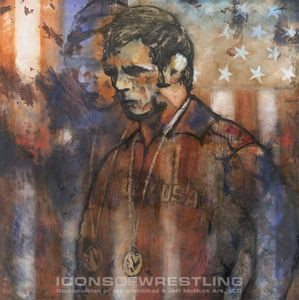 Image of GABLE USA 1972, art by Jeff McNutt Dan Gable was the Hawkeyes ...