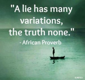 Stop Lying and Tell The Truth Already!