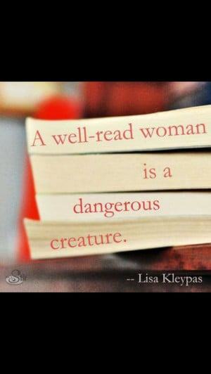 Well read woman