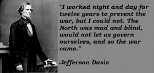 US Senator Jefferson Davis Linked Civil War to American Revolution