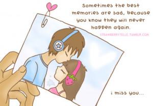 boy, cartoon, couple, girl, heart, love, memories, missin you, never ...