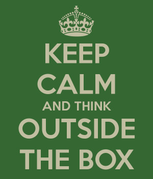 Think Outside The Box Wall Cor