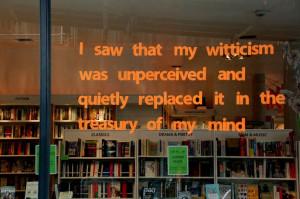 bookshop in Dublin with a quote by avant-garde novelist Flann O ...
