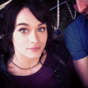 Leven Rambin as Clarisse La Rue on the set of Percy Jackson: Sea of ...