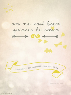 ... quote from The Little Prince Antoine Saint-Exupéry. $19.00, via Etsy