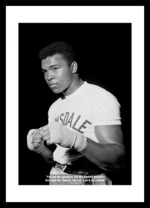 Muhammad Ali Classic Quote Boxing Print