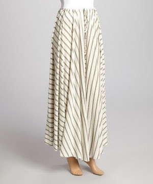 Wheat Stripe Maxi Skirt by Purple Clover #zulily
