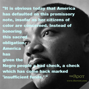 Quote of the Day: Martin Luther King Jr. on What America Owes Black ...