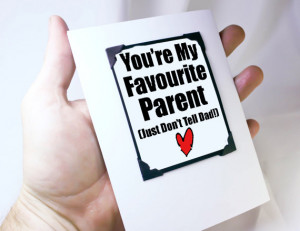 Funny Card for mothers. Birthday Card for Mom. Favourite Parent Funny ...