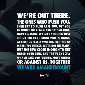 Nike sports motivational quotes