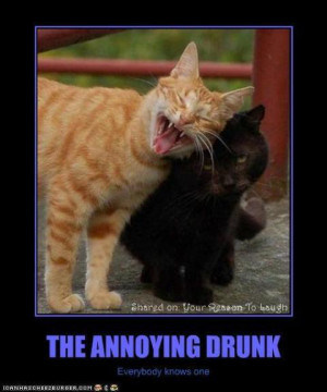 The annoying drunk every friend has one
