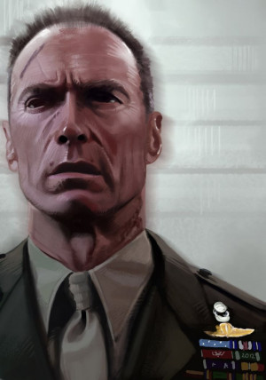 Gunnery Sergeant Tom Highway - Heartbreak Ridge - Yvan Quinet