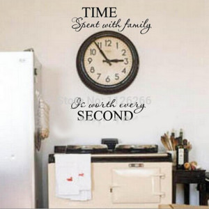 Removable Wall Stickers Quotes Time Spent With Family Is Worth Every ...