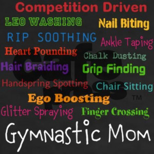 gymnastic mom Shirt on CafePress.com