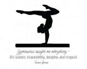 Shawn Johnson Quote Wall Decal | Gymnastic Vinyl Sticker 22