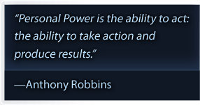 Tony Robbins Personal Power II quote