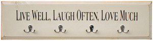 Wall Mount Coat Rack with Quotes - 9x36