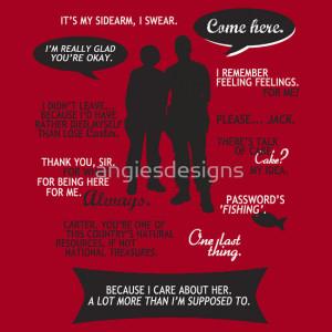... › Portfolio › Stargate SG-1 - Sam & Jack quotes (B/W design