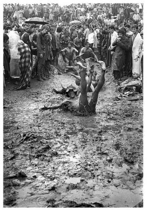 Having fun in the dirt! Woodstock, 1969.