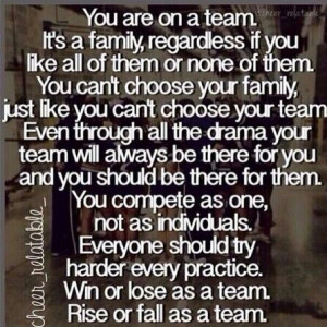 My team is my family