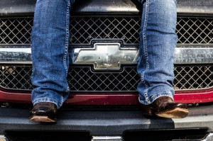 Chevy Truck And cowboy Boots