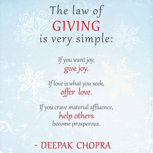 ... first before you give. That is not giving. That is an exchange