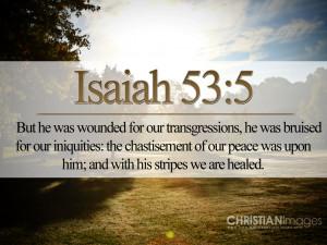 Isaiah 53:5 Papel de Parede Imagem