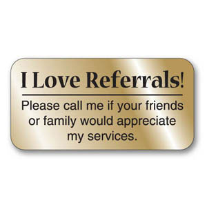 ... real estate marketing with gold i love referrals real estate labels