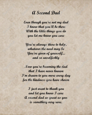 Funny Birthday Quotes For Dad A second dad love poem for