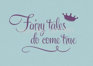 crown wall quote stickers - Fairy tales Do Come True -Princess Wall ...