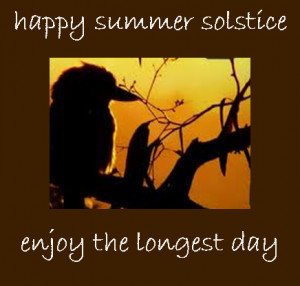 give me a solstice to celebrate any day…
