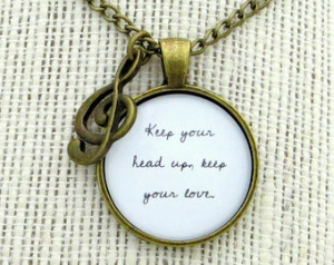 The Lumineers - Stubborn Love Inspi red Lyrical Quote Pendant Necklace ...