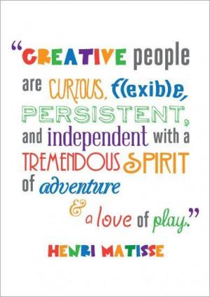 Creative people.