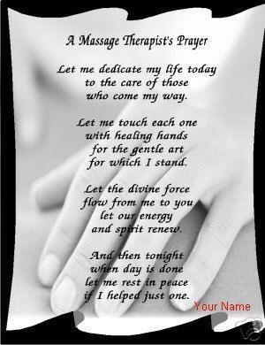 Massage Therapists Poem